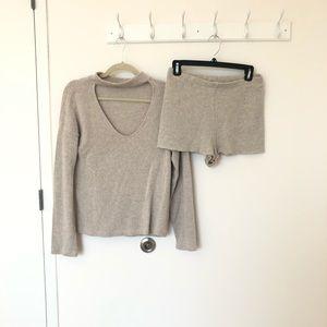 Zara sweater and shorts set